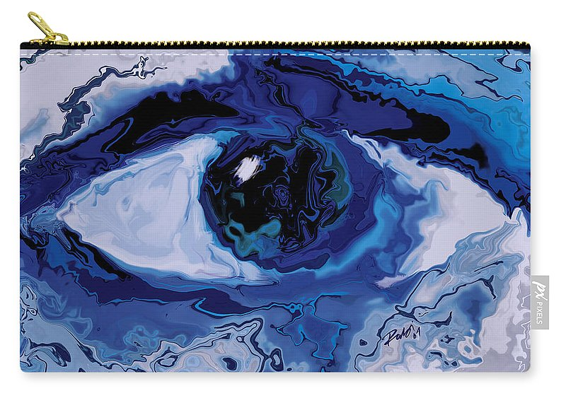 Eye Carry-all Pouch featuring the digital art Eye by Rabi Khan