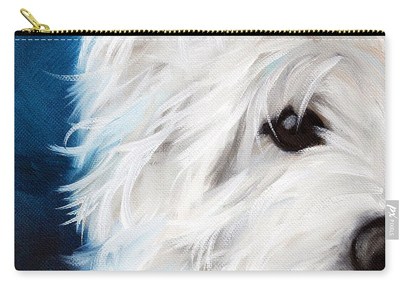 Art Carry-all Pouch featuring the painting Eye See You by Mary Sparrow