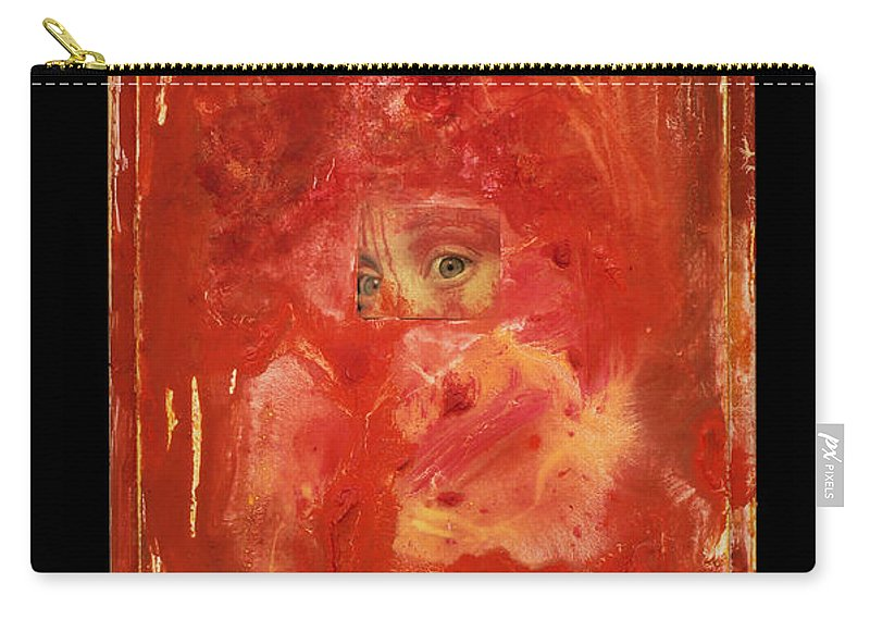 Eyes Carry-all Pouch featuring the mixed media Eyes by Jaime Becker