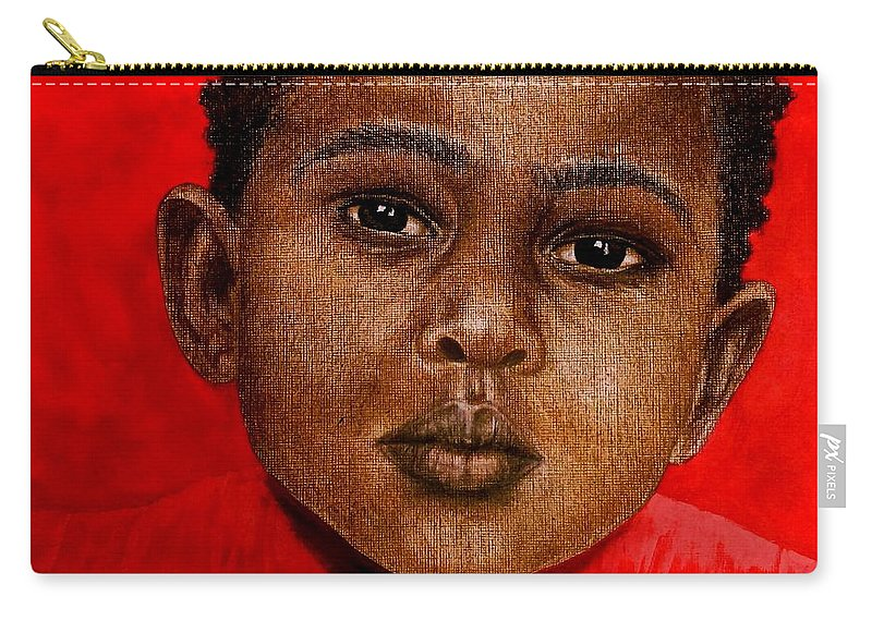 Painting Carry-all Pouch featuring the painting Eyes Of Innocence by Edith Peterson