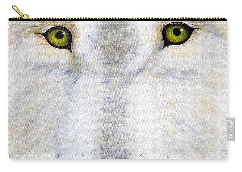 Wolf Carry-all Pouch featuring the painting Eyes Of The Wolf by Jerome Stumphauzer