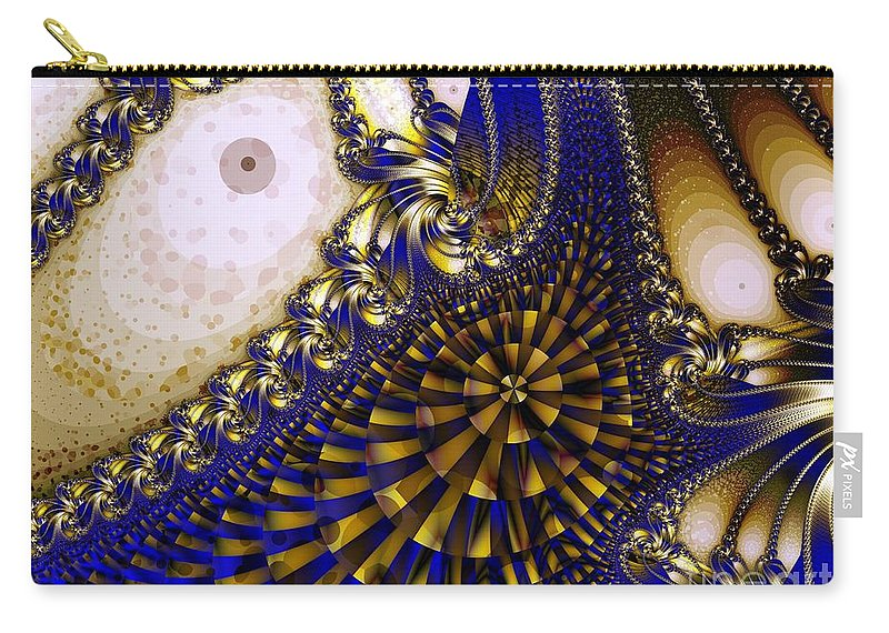 Eyes Carry-all Pouch featuring the digital art Eyes by Ron Bissett