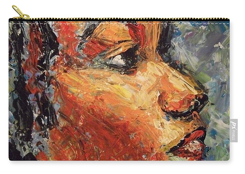 Carry-all Pouch featuring the painting Eyes To The Sky by Jan Gilmore