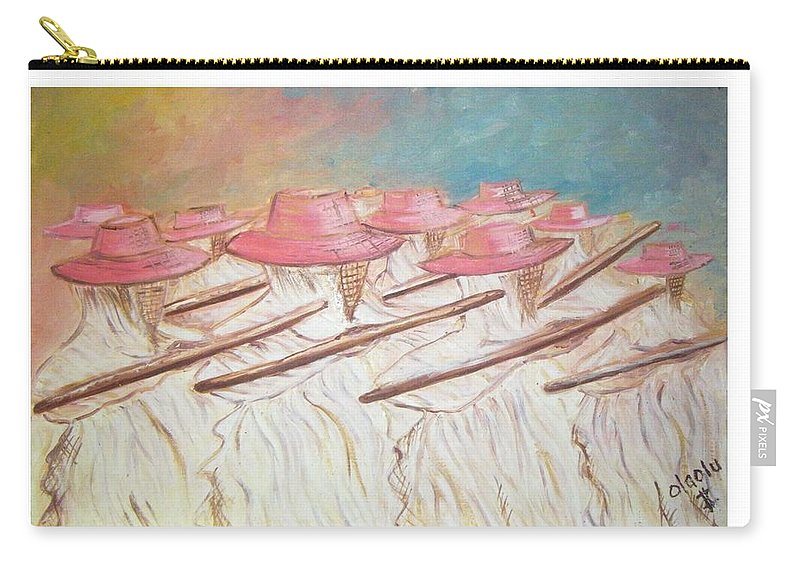 Abstract Carry-all Pouch featuring the painting Eyo Festival by Olaoluwa Smith