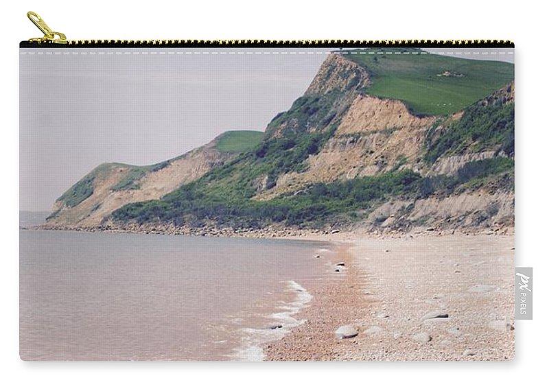 Beach Carry-all Pouch featuring the photograph Eype Beach by Hannah Goddard-Stuart
