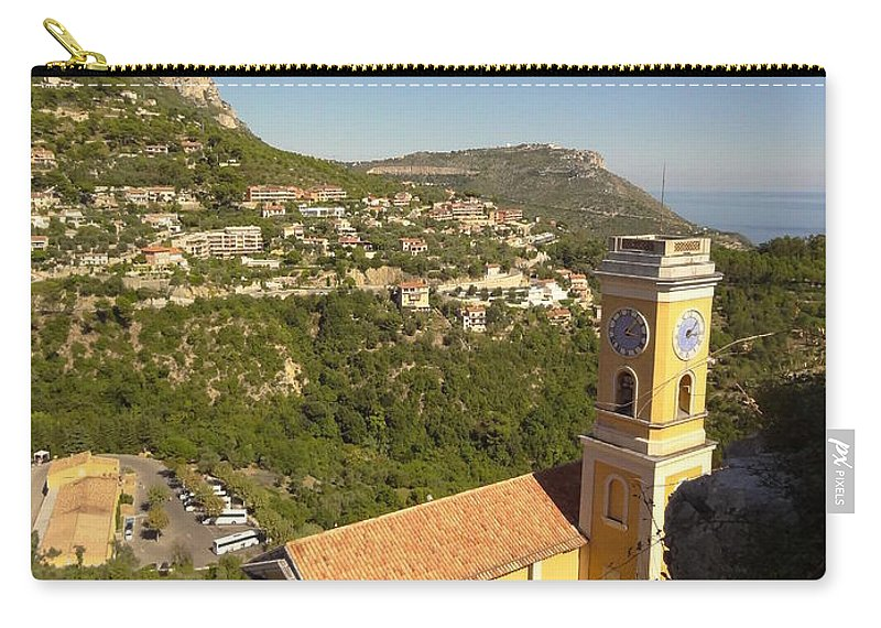 Carry-all Pouch featuring the photograph Eze's Church by Andres Chauffour
