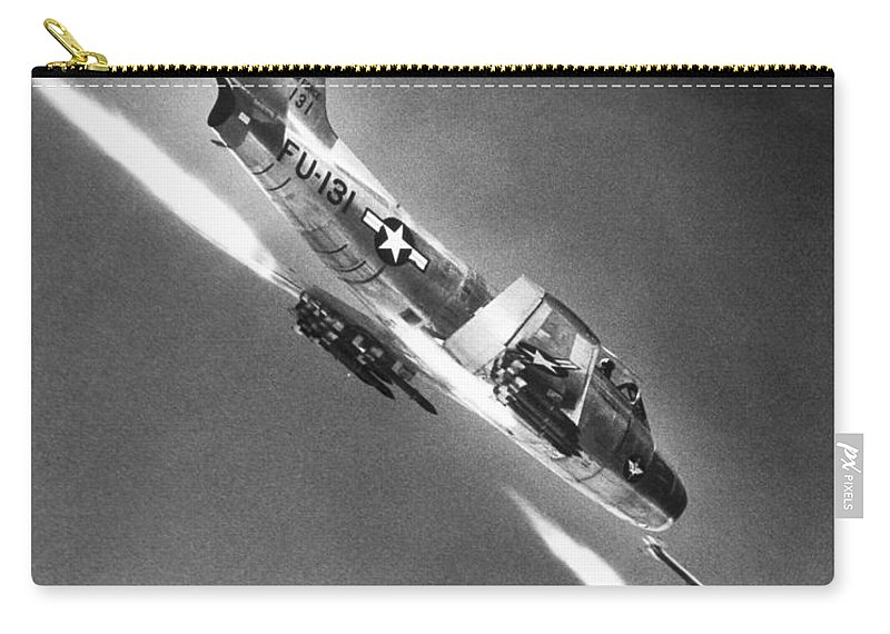 20th Century Carry-all Pouch featuring the photograph F-86 Jet Fighter Plane by Granger
