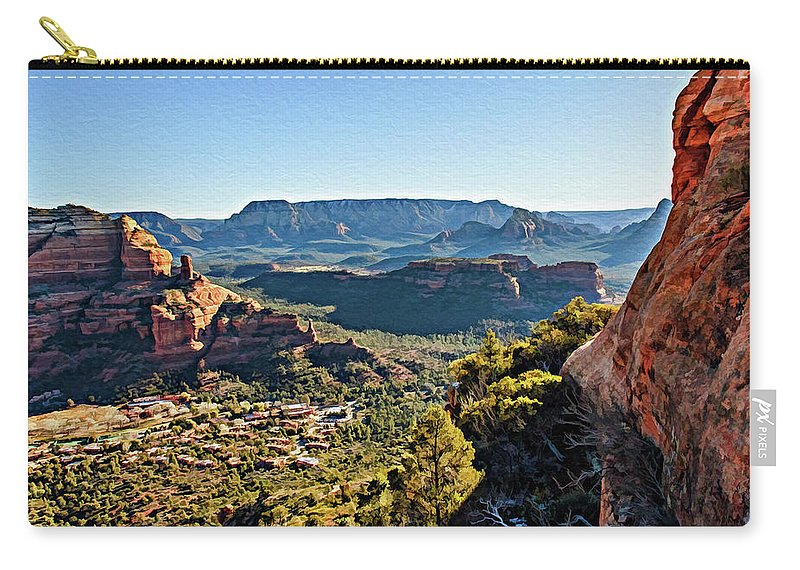 Sedona Carry-all Pouch featuring the photograph F And B Ridge 07-028 by Scott McAllister