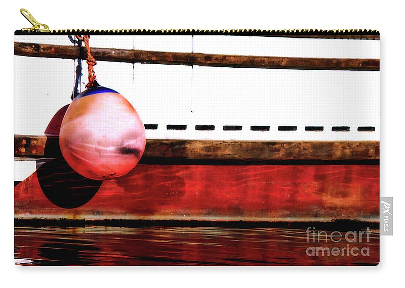 F Dock Carry-all Pouch featuring the photograph F Dock Buoy by Dorothy Hilde