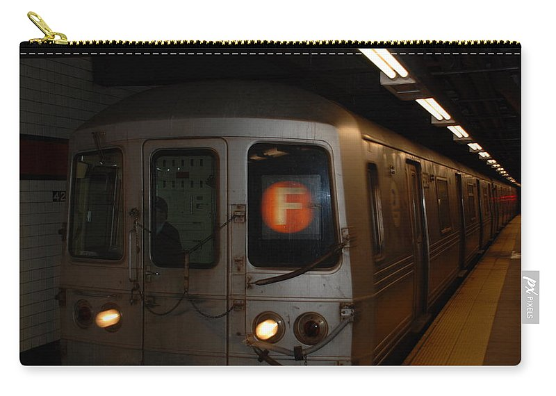 New York City Carry-all Pouch featuring the photograph F Trian by Rob Hans