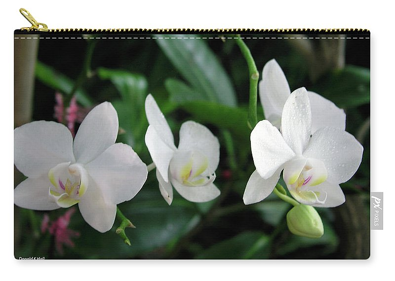 Orchids Carry-all Pouch featuring the photograph F11 Orchid Flowers by Donald k Hall