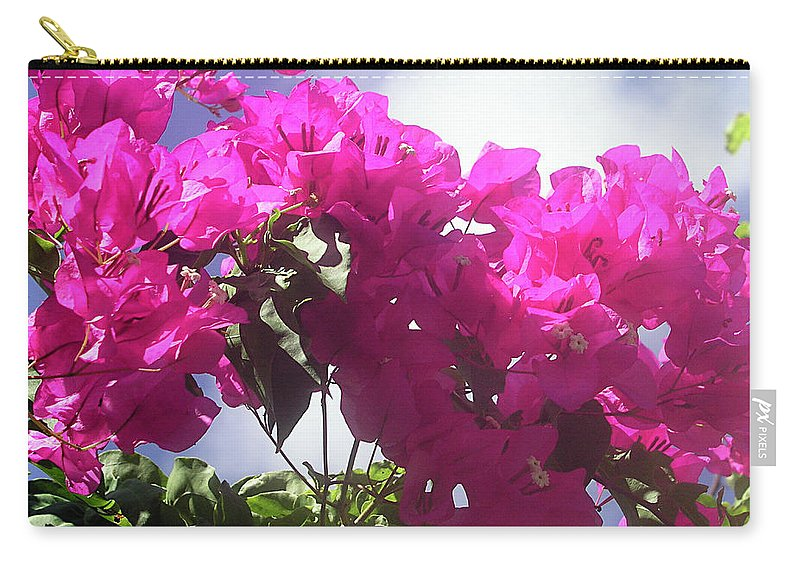 Bougainvilleas Carry-all Pouch featuring the photograph F15 Bougainvilleas Flowers by Donald k Hall