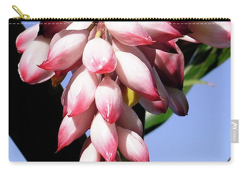 Shell Ginger Carry-all Pouch featuring the photograph F16 Shell Ginger Flowers by Donald k Hall
