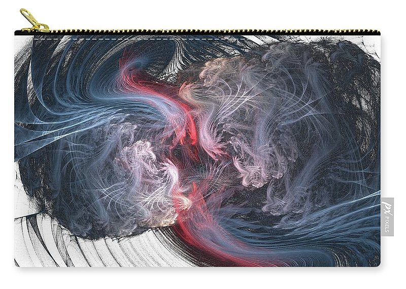 Fractal Carry-all Pouch featuring the digital art f24 by Thomas Pendock