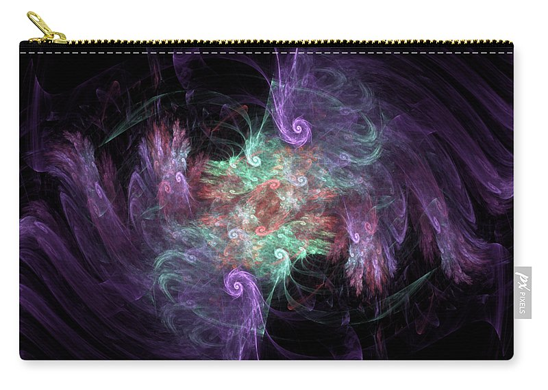 Fractal Carry-all Pouch featuring the digital art f39 by Thomas Pendock