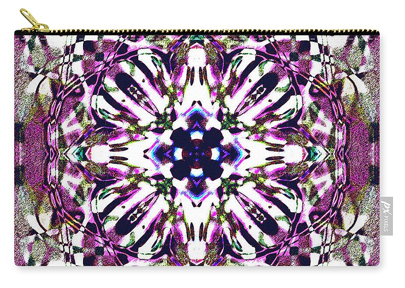 Abstract Carry-all Pouch featuring the digital art Fabex by Blind Ape Art