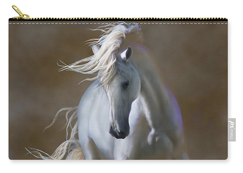 Andaluian Carry-all Pouch featuring the digital art Fabuloso by Barbara Hymer