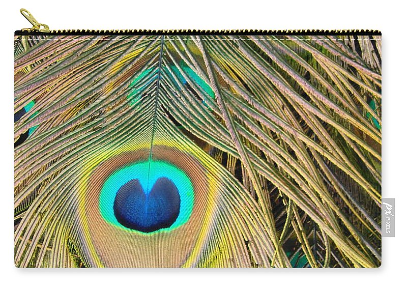 Peacock Carry-all Pouch featuring the photograph Fabulous Feathers by Margaret Bobb