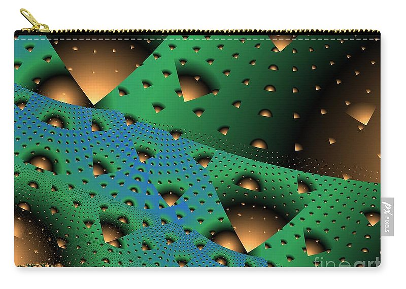 Fractal Art Carry-all Pouch featuring the digital art Facades And Fenestration by Ron Bissett