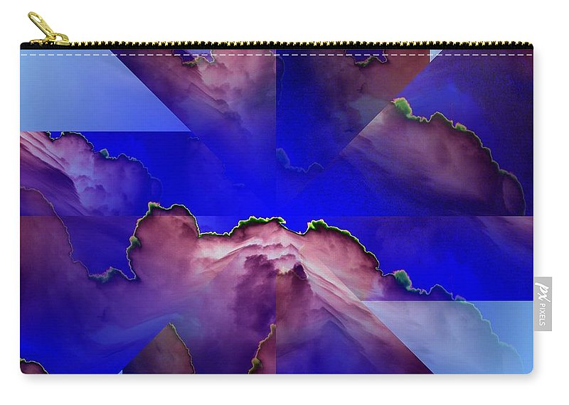 Clouds Carry-all Pouch featuring the digital art Face Cloud Illusion by Tim Allen
