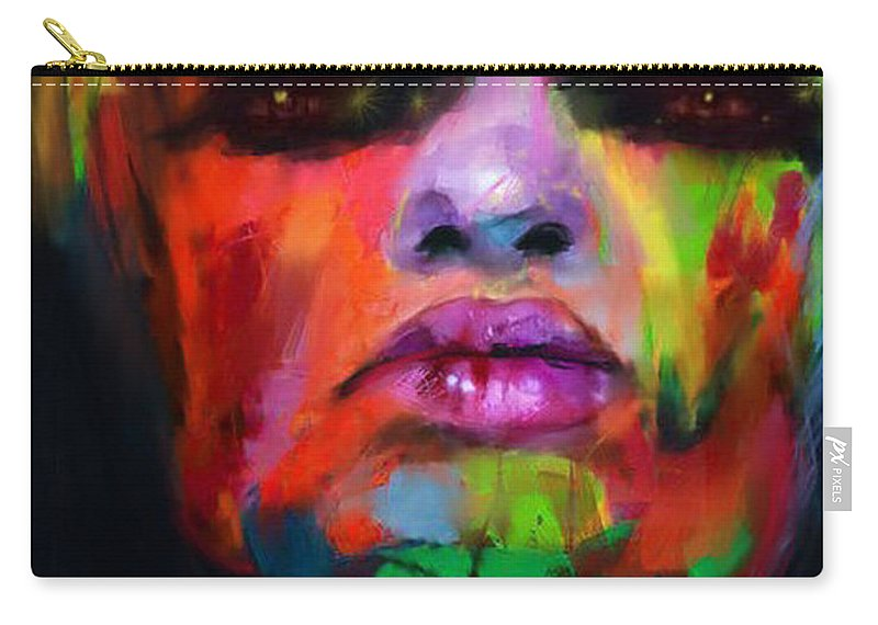 Emotional Carry-all Pouch featuring the digital art Face Me by Scott Smith