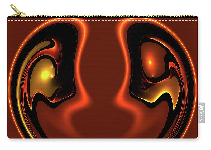 Abstract Face Together Eye Eyes Symbol Friendship Friends Couple Balance Brown Carry-all Pouch featuring the photograph Face To Face by Steve K