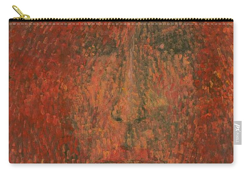 Colour Carry-all Pouch featuring the painting Face by Wojtek Kowalski