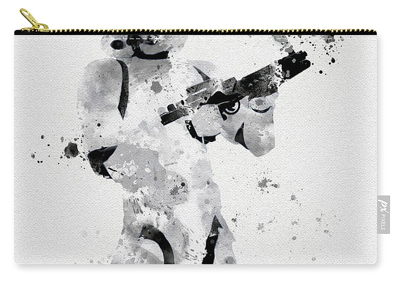 Star Wars Carry-all Pouch featuring the mixed media Faceless Enforcer by My Inspiration