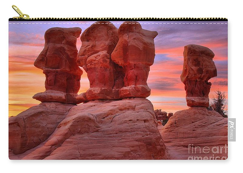 Devils Garden Carry-all Pouch featuring the photograph Faces And Fire by Adam Jewell