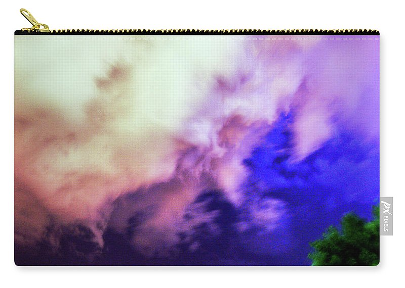 Nebraskasc Carry-all Pouch featuring the photograph Faces In The Clouds 002 by NebraskaSC