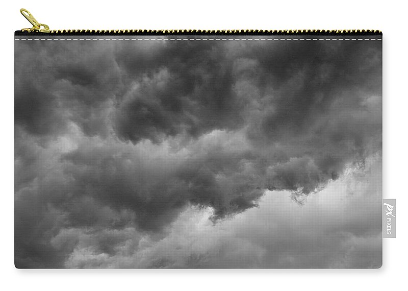 Clouds Carry-all Pouch featuring the photograph Faces In The Mist Of Chaos by ChelleAnne Paradis