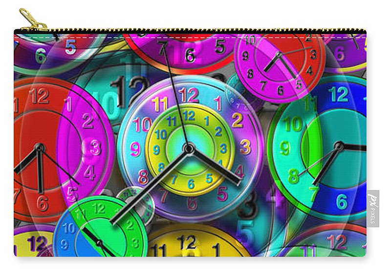 Portrait Carry-all Pouch featuring the digital art Faces Of Time 1 by Mike McGlothlen