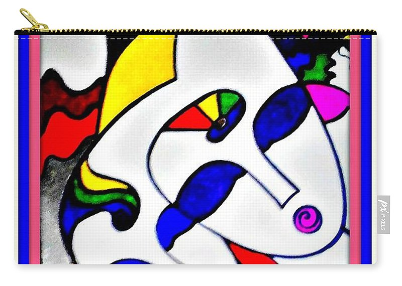 Abstract Carry-all Pouch featuring the drawing Faces by Star Doodels