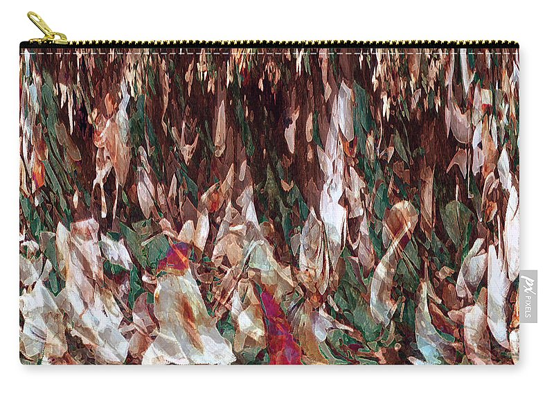Abstract Art Carry-all Pouch featuring the digital art Face's Within by Linda Sannuti