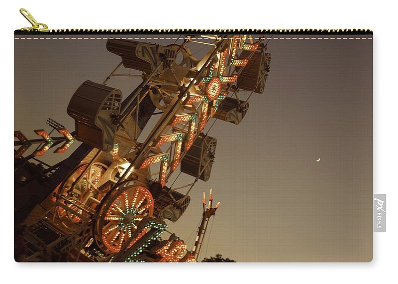 Carry-all Pouch featuring the photograph Fair Lights by Trish Hale