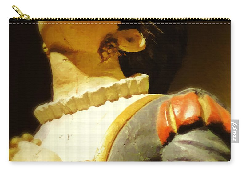 Antique Carry-all Pouch featuring the digital art Fair Weather Prayer by RC DeWinter