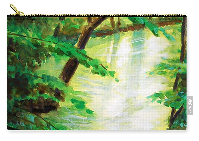 Forest Carry-all Pouch featuring the painting Fairfax Summer by Ken Meyer jr