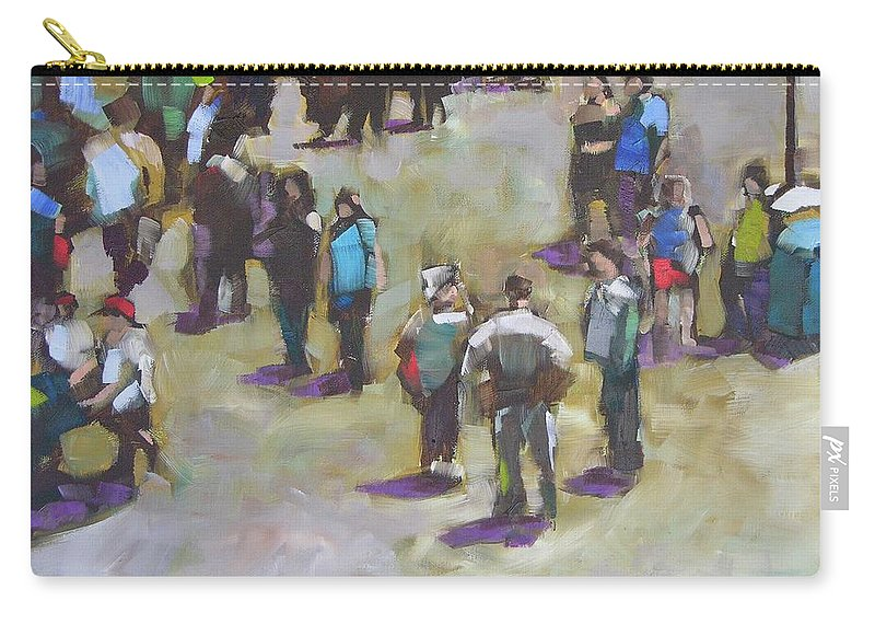 Oil Carry-all Pouch featuring the painting Fairgoers by Mary McInnis