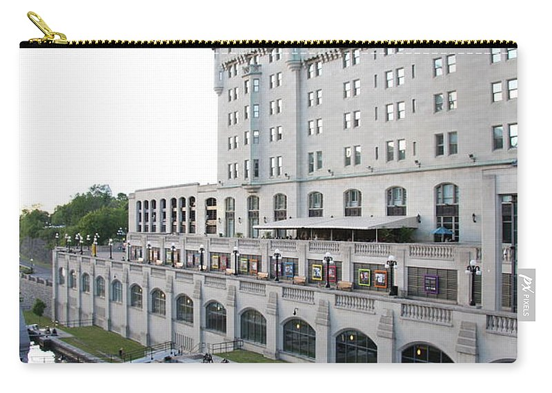 Fairmont Chateau Laurier Carry-all Pouch featuring the photograph Fairmont Chateau Laurier - Ottawa by Christiane Schulze Art And Photography