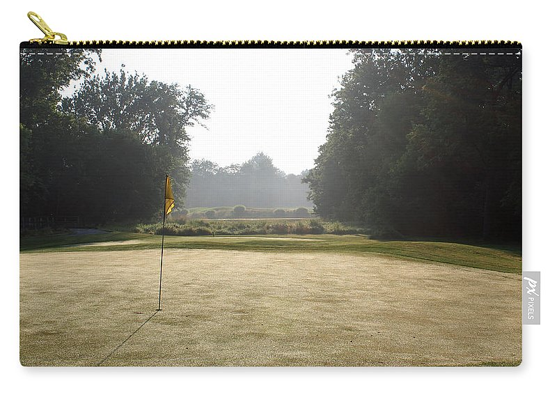 Fairway Carry-all Pouch featuring the photograph Fairway Hills - 12th - A Break - With A Makeable Par 3 by Ronald Reid
