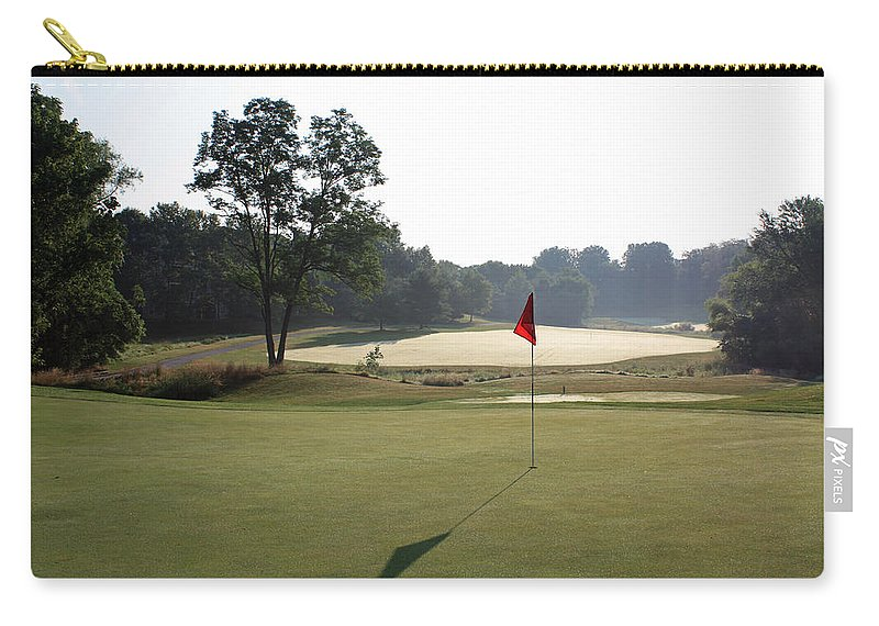 Fairway Carry-all Pouch featuring the photograph Fairway Hills - 2nd - Toughest Par 5 In The Universe by Ronald Reid