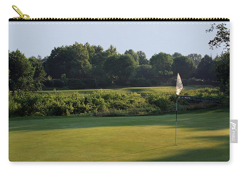 Fairway Carry-all Pouch featuring the photograph Fairway Hills - 3rd - A Bridge And Marsh To This Par 3 by Ronald Reid