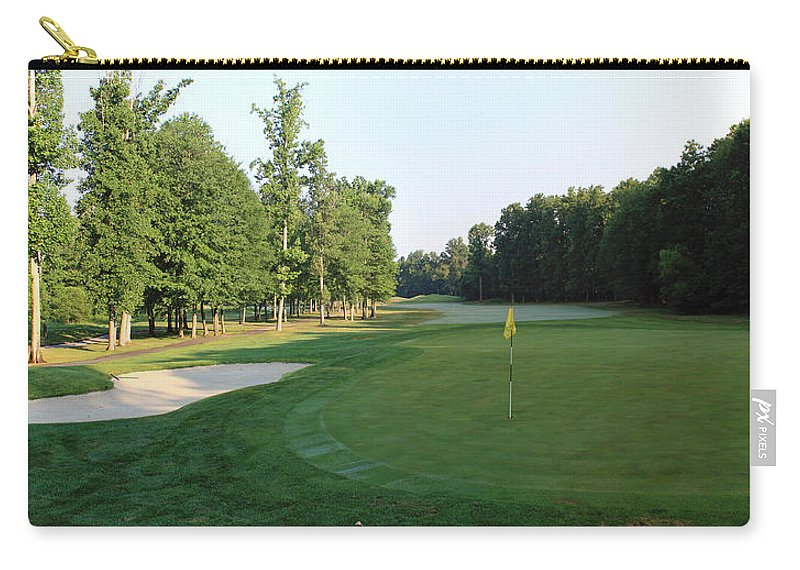 Fairway Carry-all Pouch featuring the photograph Fairway Hills - 4th - A Straight-in Par 4 by Ronald Reid