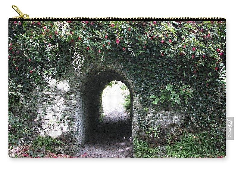 Derrynane Carry-all Pouch featuring the photograph Fairy Bridge by Kelly Mezzapelle