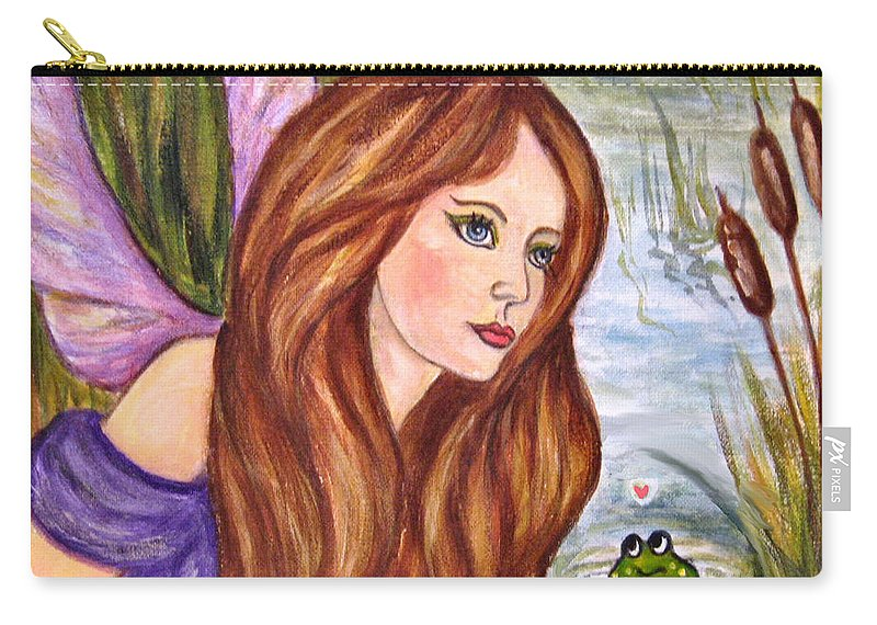 Swamp Fairy Carry-all Pouch featuring the painting Fairy by Frances Gillotti