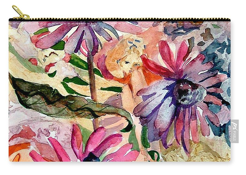 Daisy Carry-all Pouch featuring the painting Fairy Land by Mindy Newman