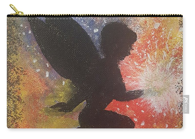 Fairy Carry-all Pouch featuring the painting Fairy Life Happiness by Catrina Carter
