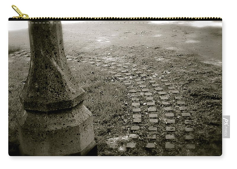 Black And White Carry-all Pouch featuring the photograph Fairy Paths by Margaret Fronimos