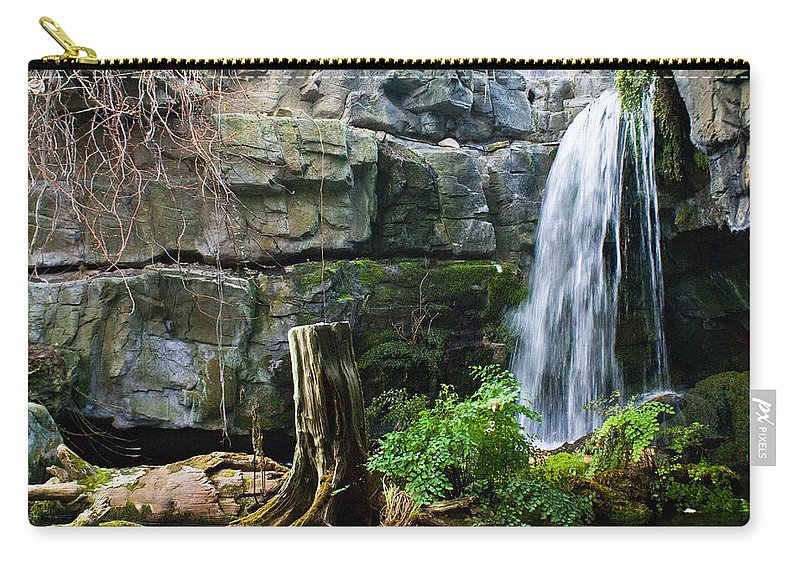 Waterfall Carry-all Pouch featuring the photograph Fairy Waterfall by Douglas Barnett