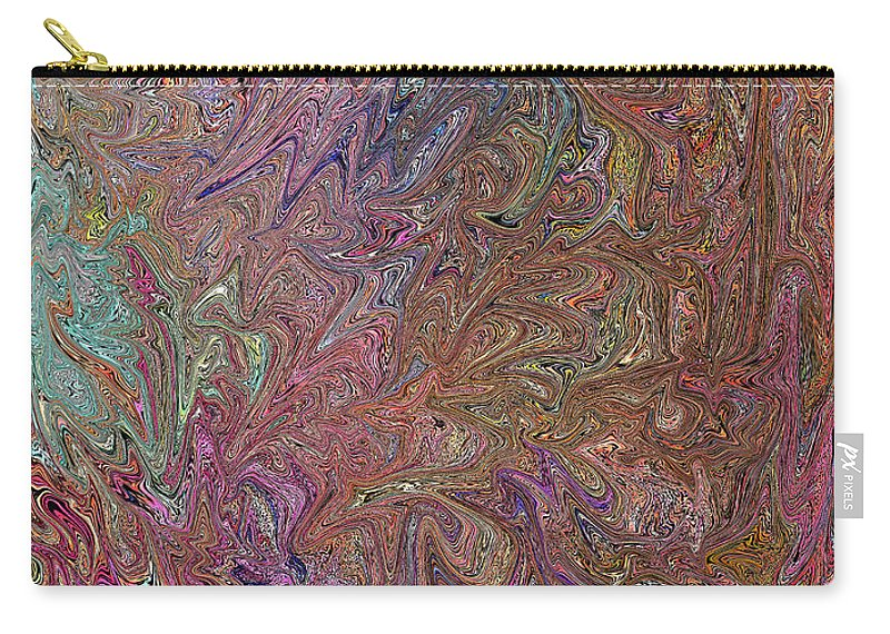 Fairy Carry-all Pouch featuring the painting Fairy Wings- Digital Art by Kathy Symonds